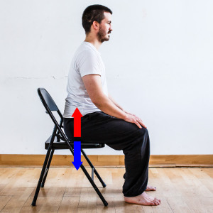 posture imagery press into chair