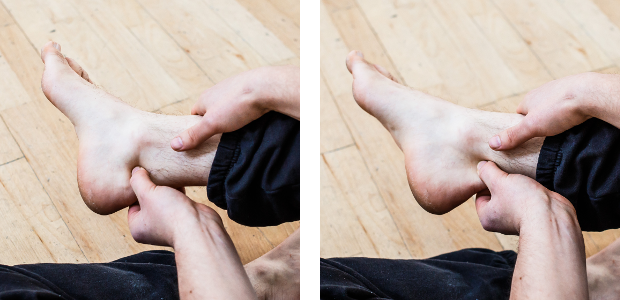 ankle mobiliy self-treatment achilles flossing