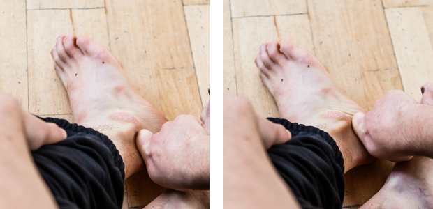 ankle mobiliy self-treatment lateral across