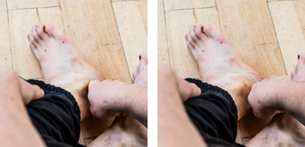 ankle mobiliy self-treatment lateral along