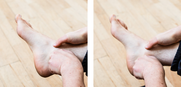 ankle mobiliy self-treatment medial along