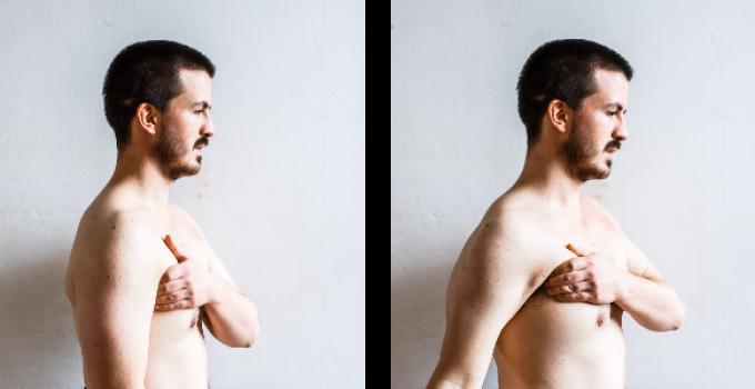 un-slouching shoulders pec major release oppose